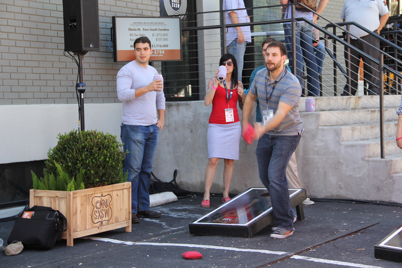 SXSW-goers take a break from all the tech for some good old-fashioned, real-life games.