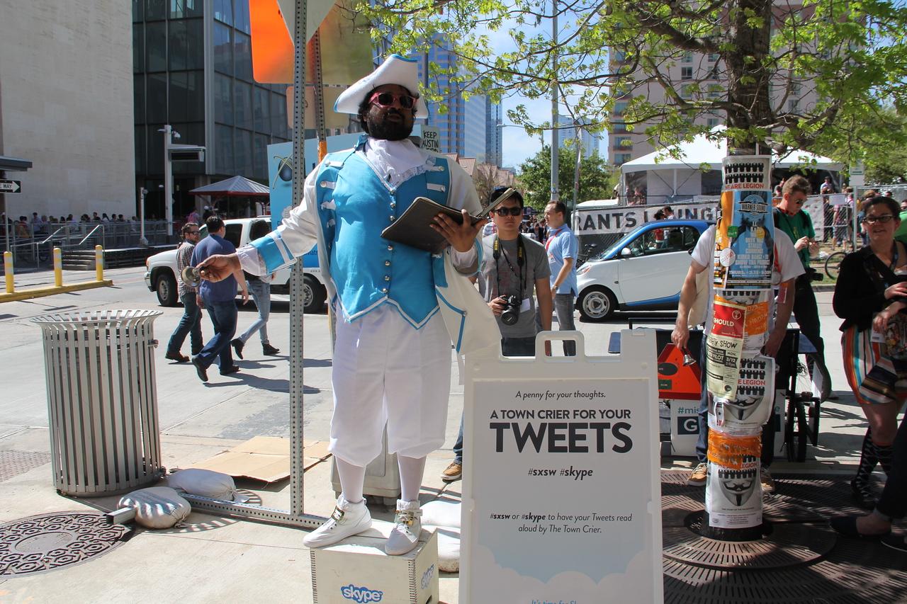 Skype's tweet-worthy promotion at SXSW.