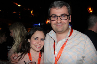 WSJ's Shayndi Raice and Geoffrey Fowler stop by the AllThingsD party.
