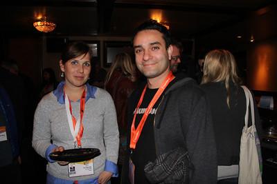 AllThingsD Senior Editor Liz Gannes with Apple's Johnnie Manzari.