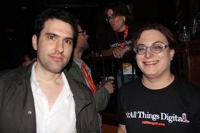Gabe Rivera of Techmeme, with AllThingsD's Ina Fried.