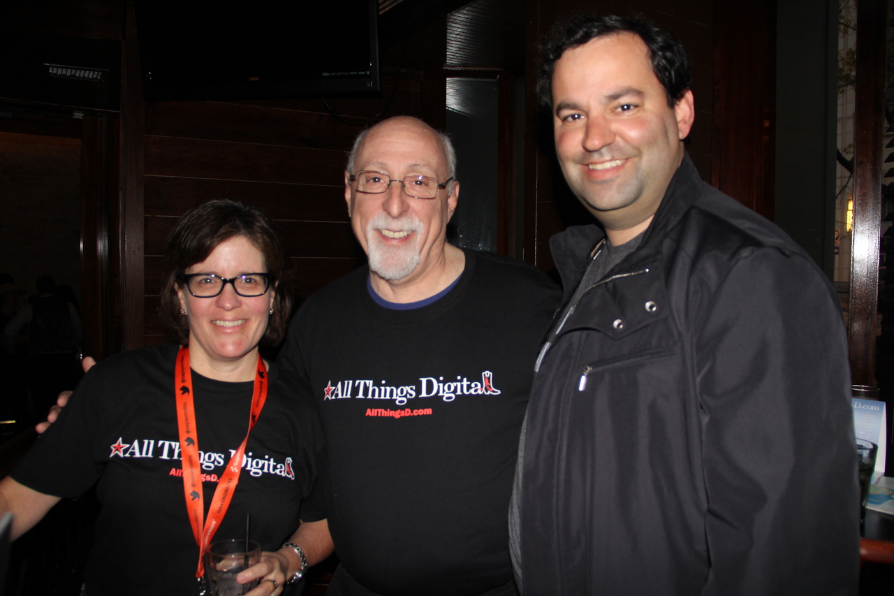 Kara Swisher and Walt Mossberg, with North Bridge Capital's Ric Fulop.