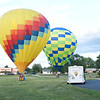 Hot Air Balloons landing<br /> Allen County Fair 2013