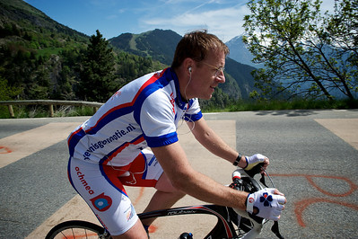 Casper on his fourth climb up the Alpe d'Huez.