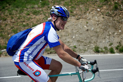 Hessel on his second climb up the Alpe d'Huez.