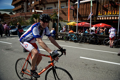 Hugo on his third climb up the Alpe d'Huez.