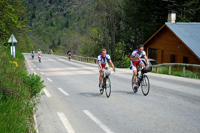 Boogert climbing Alpe d'Huez another time.