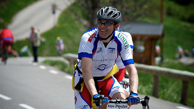 Hugo on his second climb up the Alpe d'Huez.