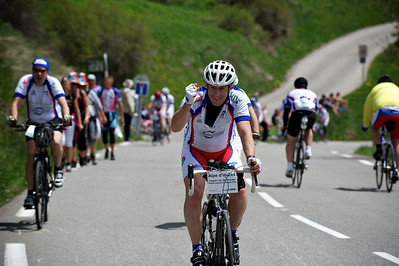 Casper on his third climb of Alpe d'Huez.