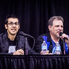 Jhonen Vasquez, creator of Invader Zim and Johnny the Homicidal Maniac with Dan Vado, owner of SLG and man behind APECon