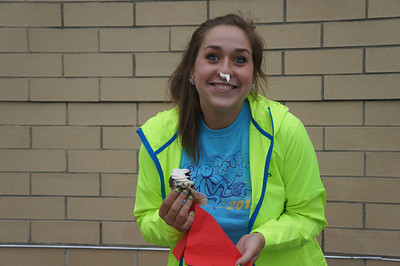 Enjoying cupcakes at the 10th Annual Alumni Soccer Game at Lutheran West.