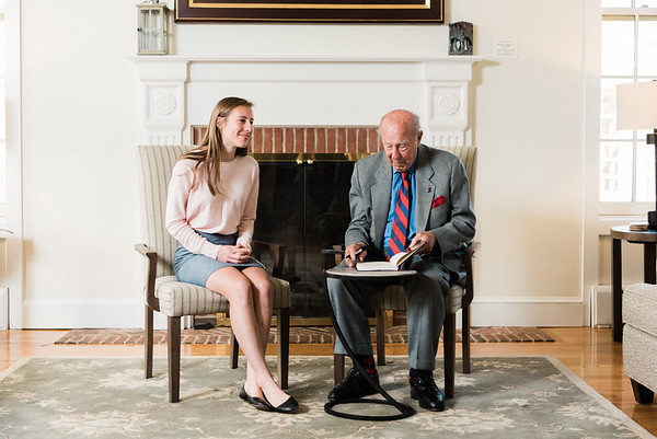 George P. Shultz '38 Returns to the Island