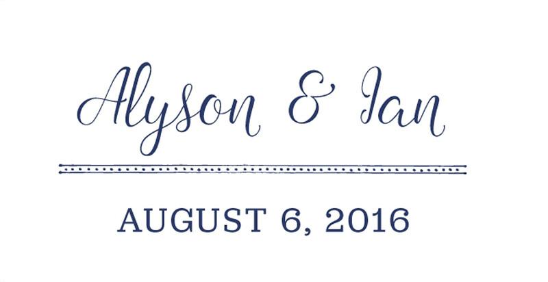 Alyson and Ian