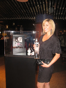 Photograph of Caleche Manos, former Miss Nevada and now iS Vodka Ambassador. Amanda Lepore will be on hand to drink iS Vodka with you and sign autographs at the Japanese-themed Hiro Cocktail Lounge. Stock up on her new eau de perfum Amanda.
