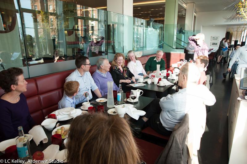 Family & friends celebrate Amanda's 50th birthday at the Glasshouse restaurant