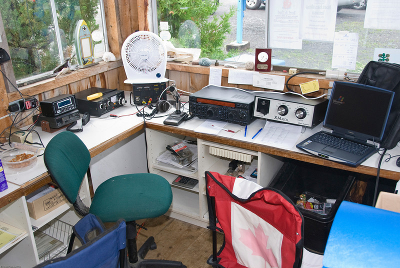 Station 1 - This station was used for voice comms on HF, including 160m.
