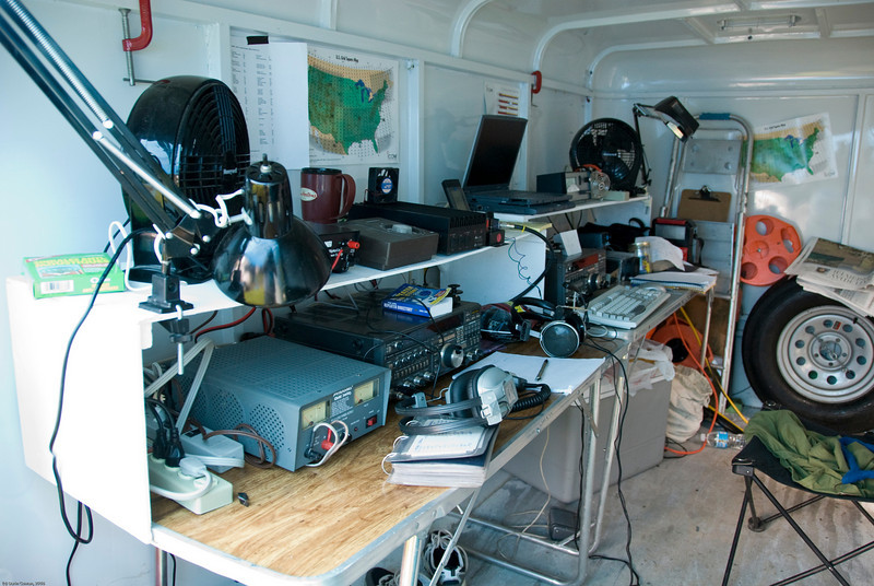 The VO1NO emergency comms shack.  Al operated 2m and 6m from here, with considerable success on 6m on Sunday.