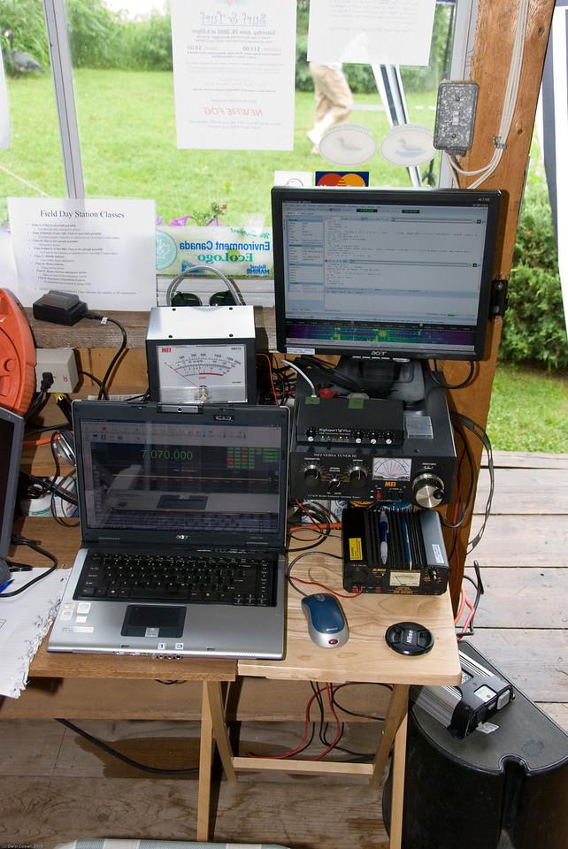 The VE3OIJ portable digital station.
