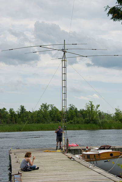 Darrell doing more pre-yagi-down prep.