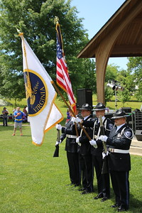 Salem Police Color Guard.
