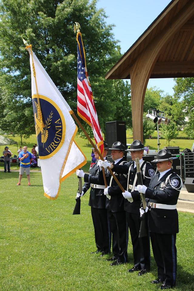 Salem Police Color Guard.