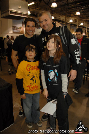 Joe Sib with a family of Punks - American Hardcore DVD Release Party on Complete Control Radio- at VANS Skatepark - February 24, 2007 - Orange, CA