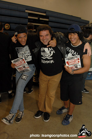 Steve of  Flipper with more fans - American Hardcore DVD Release Party on Complete Control Radio- at VANS Skatepark - February 24, 2007 - Orange, CA