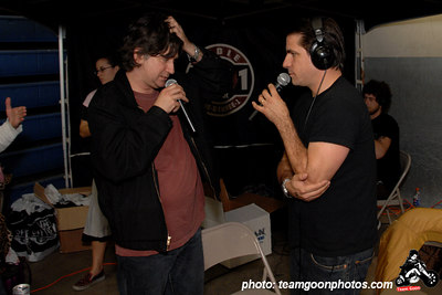 Joe Sib interviews Tony of The Adolescents on Complete Control Radio - American Hardcore DVD Release Party on Complete Control Radio- at VANS Skatepark - February 24, 2007 - Orange, CA