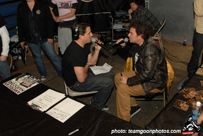 Joe Sib interviews Steve of Flipper on Complete Control Radio - American Hardcore DVD Release Party on Complete Control Radio- at VANS Skatepark - February 24, 2007 - Orange, CA