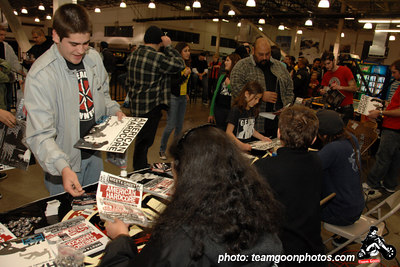 American Hardcore writer, Steven Blush - American Hardcore DVD Release Party on Complete Control Radio- at VANS Skatepark - February 24, 2007 - Orange, CA