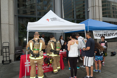 American Lung Associations' Climb event in downtown San Diego.