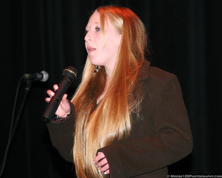 "January 2, 2008 - American Motivation Awards: Gabbi Kreuscher sings ""God Bless America"""