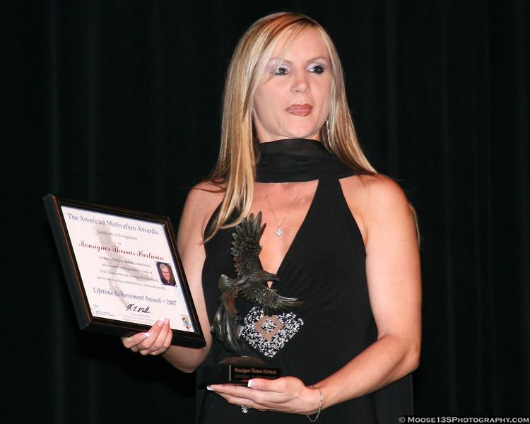 January 2, 2008 - American Motivation Awards: Lifetime Achievement Award for Monsignor Thomas Hartman