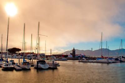 Golden Gate  Harbor Sunset