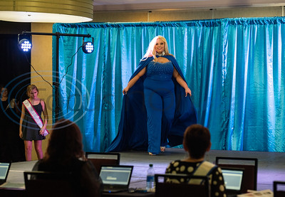 Elizabeth Hunt, 17, of Willis, competes in the America's Majestic Miss Texas pageant at the Holiday Inn S. Broadway in Tyler on Sunday, July 19, 2020. She is a member of Models Making a Difference as well as the National Pediatric Cancer Foundation Share a Smile.