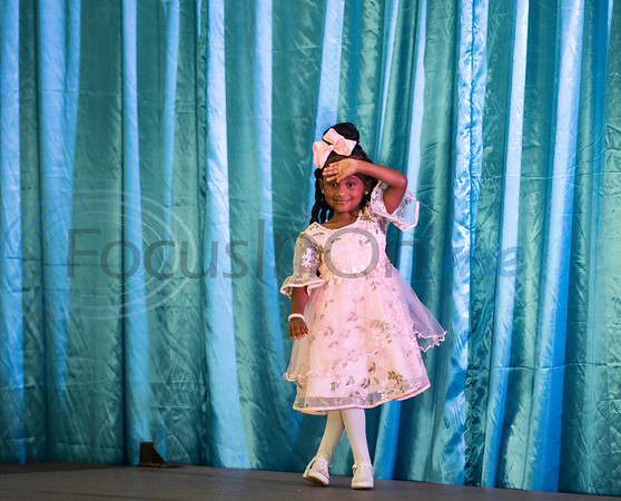 Yasmine Jackson, 3, of Tyler, competes in the America's Majestic Miss Texas pageant at the Holiday Inn S. Broadway in Tyler on Sunday, July 19, 2020.