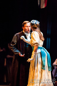 President Henry Ward Beecher (Scott Ramsay) and Isabella Beecher (Katrina Thurman)