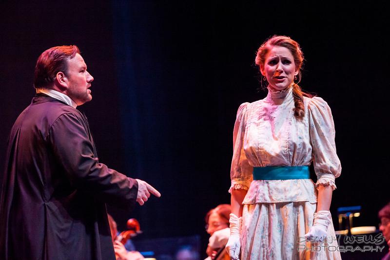 President<br /> Katrina Thurman as Isabella Beecher and Scott Ramsaey as Henry Ward Beecher in Anchorage Opera's world premier of Mrs. President.
