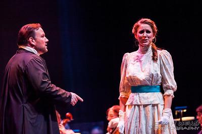 President Katrina Thurman as Isabella Beecher and Scott Ramsaey as Henry Ward Beecher in Anchorage Opera's world premier of Mrs. President.
