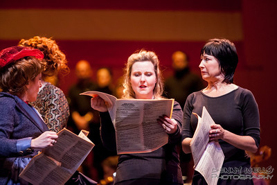 President Scandal on the pages of Woodhull's Weekly in Anchorage Opera's world premier of Mrs. President.