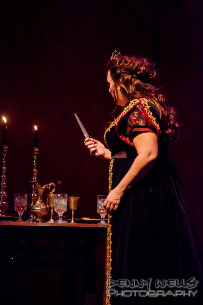 Tosca (Marie Plette) considers the knife