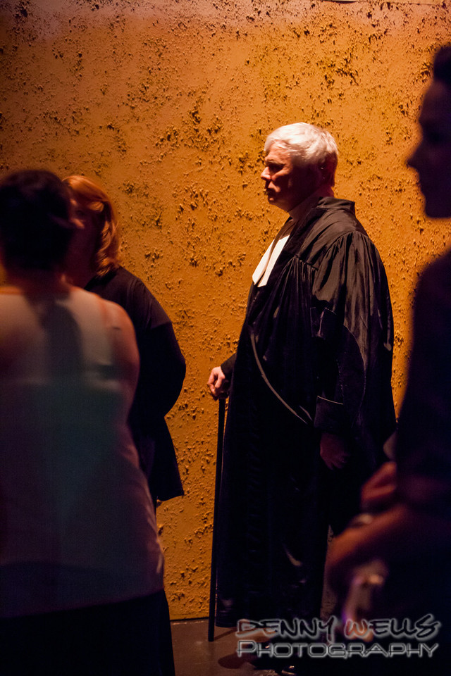 AO Tosca Larry, the judge, waiting to sing back stage.