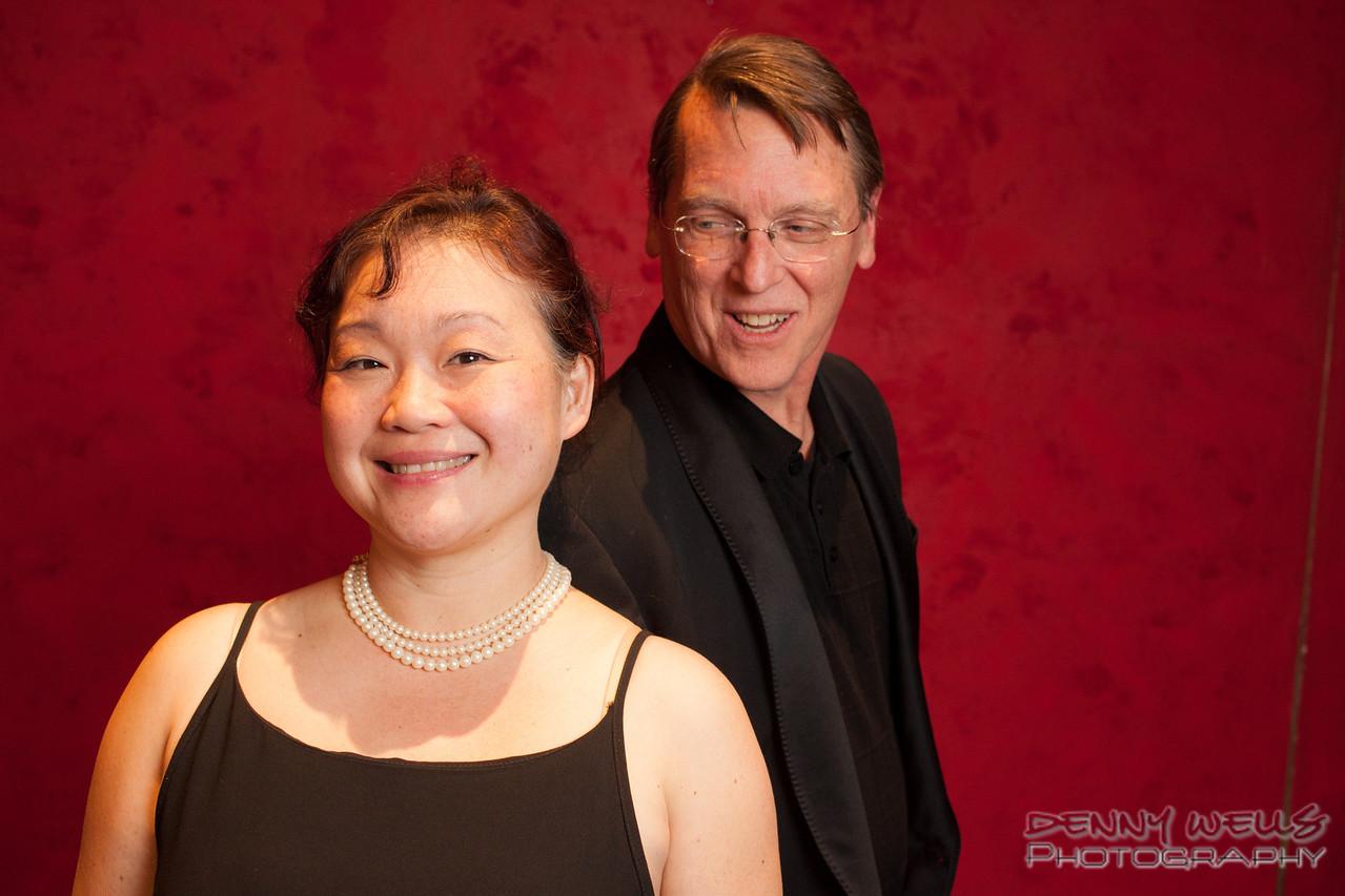 AO Tosca Chorus director Mari Hahn, and Assistant Conductor / Accompanist Richard Gordon