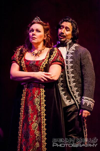 Tosca (Marie Plette) and Scarpia (Luis Ledesma)