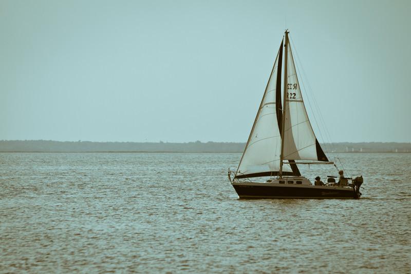 Sailboat off Long Beach Island, NJ.