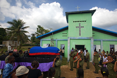 Scenes from the state funeral of Andy Palacio, local musician, international  music artist, Unesco Artist of Peace with number one album in World Music charts for 2007. Barranco Village, Toledo, Belize.