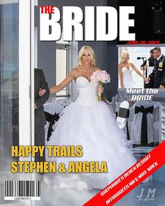 8x10 Magazine Cover Angela Meet the bride