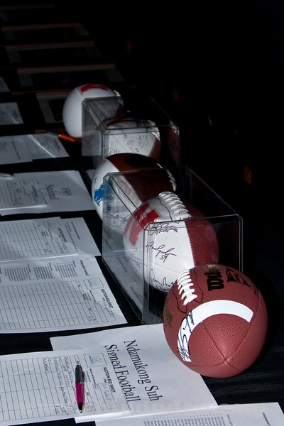 Ndamokung Suh and 1995 National Championship Team balls were the top auction items.