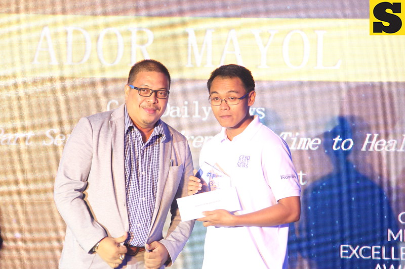 Ador Mayol of Cebu Daily News wins Reporter of the Year for Print award