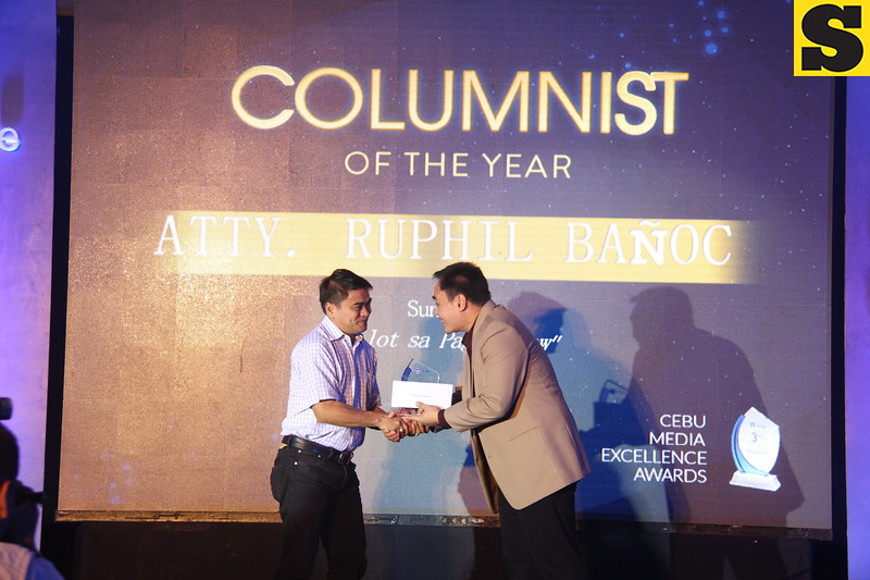 Columnist of the Year is Atty. Ruphil Banoc of Sun.Star Cebu